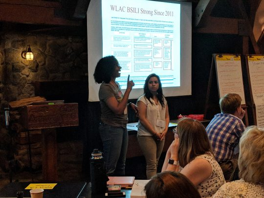West LA faculty, Claire and Leslie, discuss the history of WLAC at BSILI and their development of professional learning.