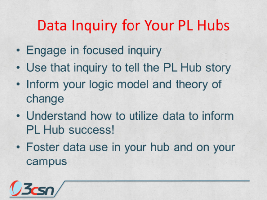 Data Inquiry for Your PL Hubs