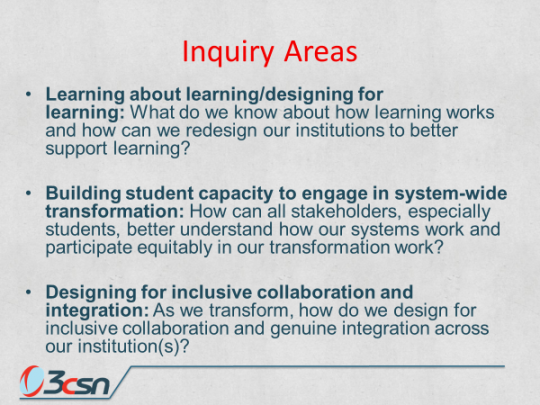 Inquiry Areas